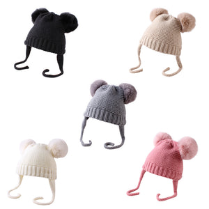 Knitted Pom Pom Beanie - 5 Colours