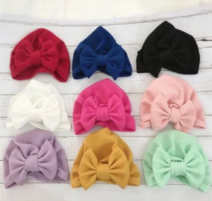 Ribbed Bowknot Beanie
