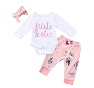 Little Sister Pink floral 3 Piece Set