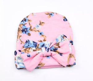 Floral Beanie-Pink