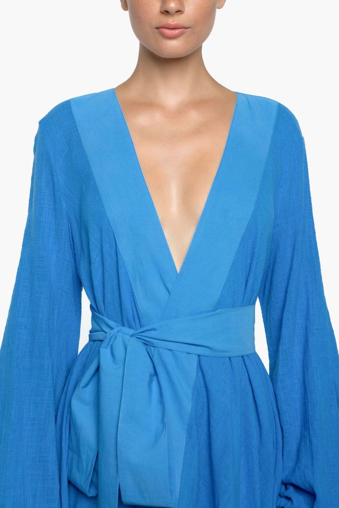 GAIA BEACH WRAP GOWN