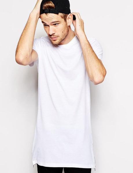 White Golden Zipper T-Shirt