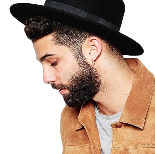 Wide Brim Fedora Fashion Hat