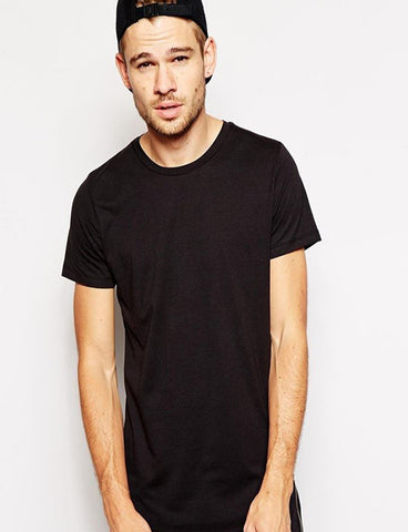 Black  Golden Zipper  T-Shirt - Main Centric