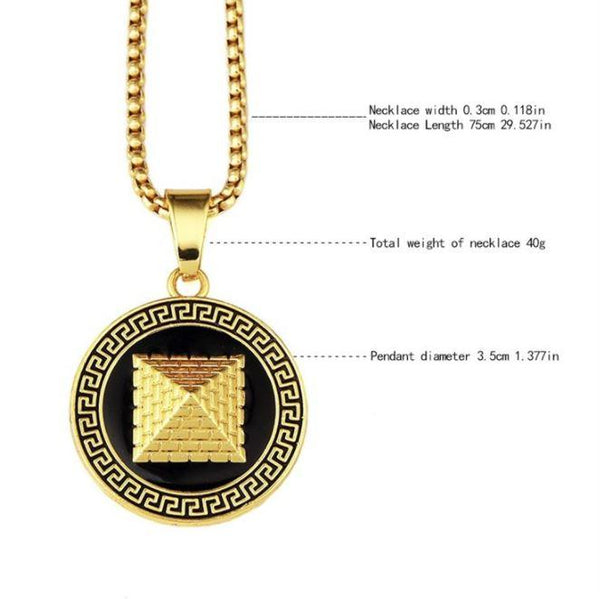 Gold Pyramid Necklace