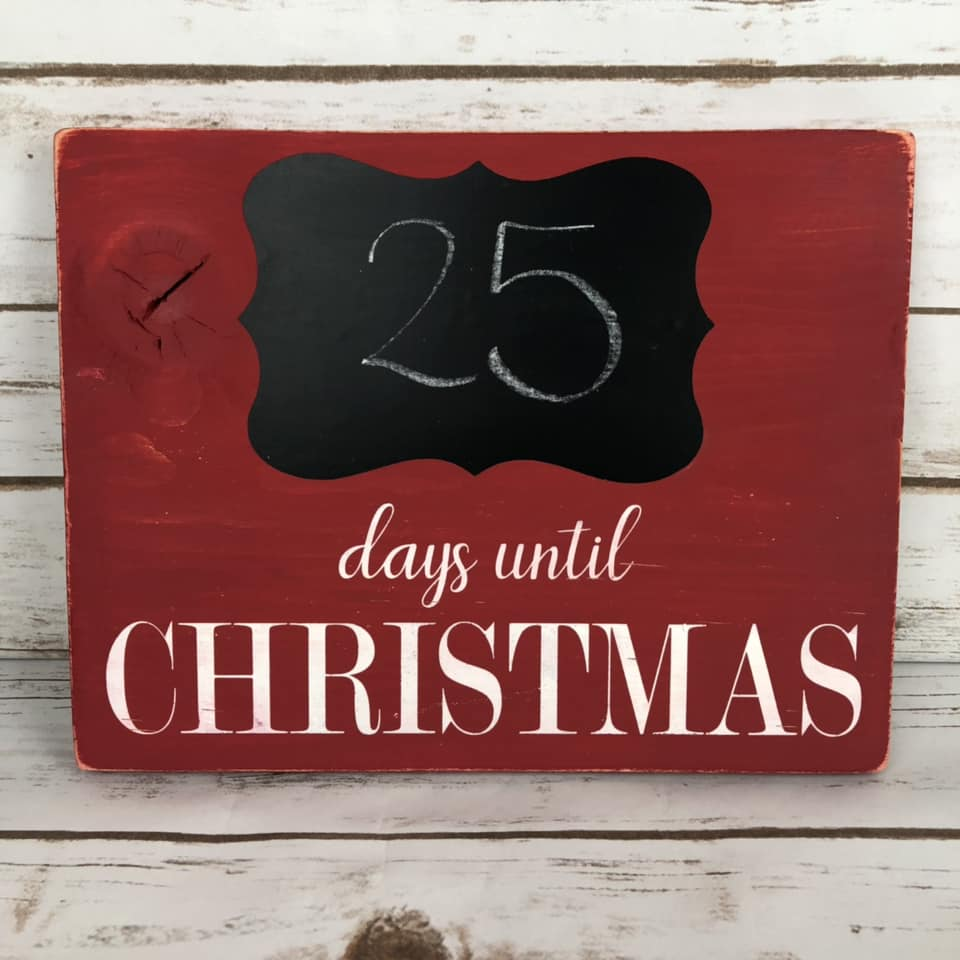 Days Until Christmas Countdown SVG Instant Download