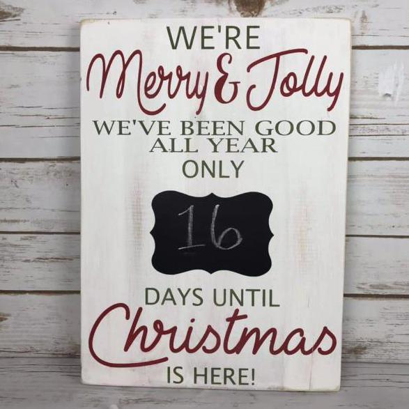 Merry & Jolly Christmas Countdown SVG Instant Download