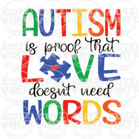 Autism is Proof Sublimation Transfer