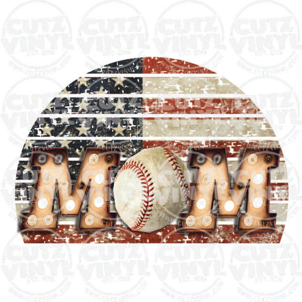 BaseBall Mom In Lights Sublimation Transfer