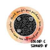 Custom QR Code Thank You Stickers QTY 50