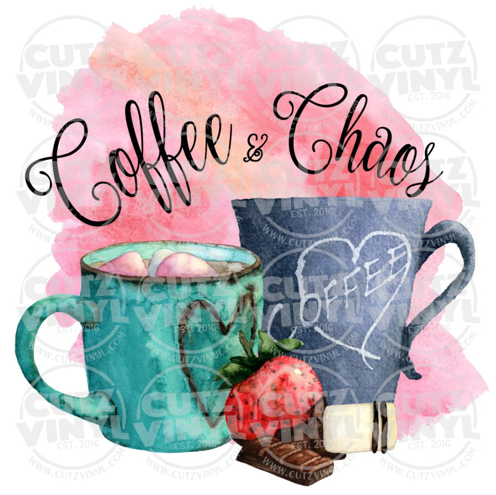 Sublimation Transfer Only - Coffee and Chaos