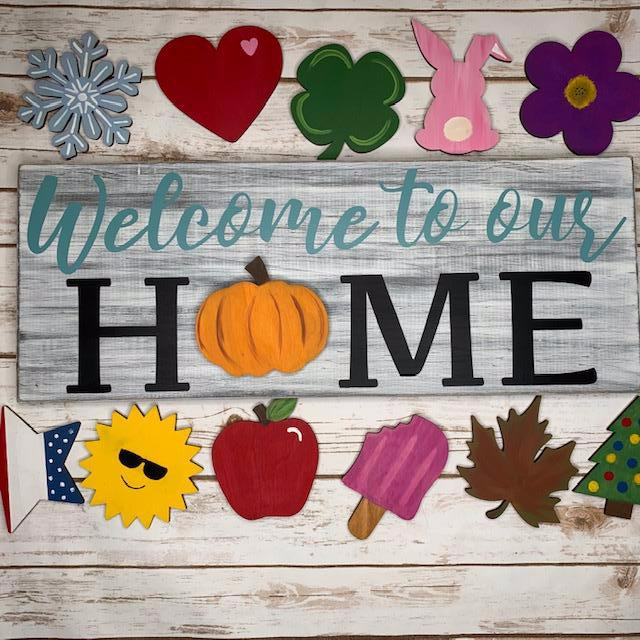 Interchangeable Home Sign Cutout Kit