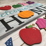 Interchangeable Home Sign Cutouts -12 pc