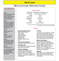 Inkjet Printable HTV - (5) 8.5x11 sheets