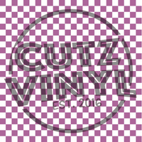 Lilac Checker Patterned HTV