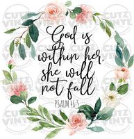 God is Within Her Sublimation Transfer