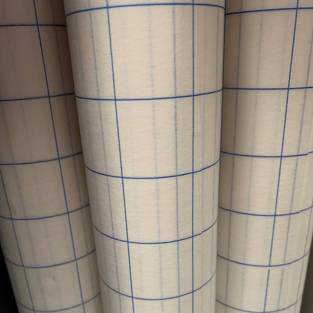 Blue Gridline Transfer Tape - 12x10yd roll