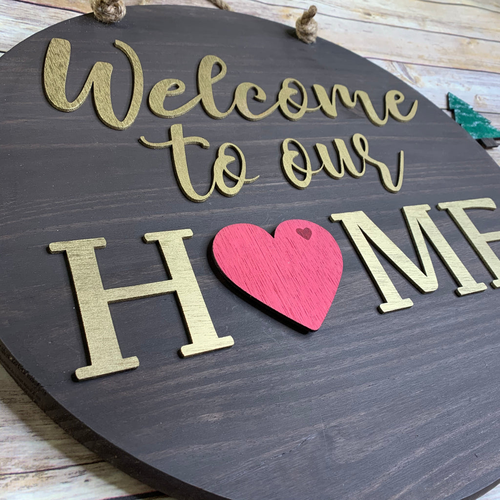 Round 3D Interchangeable Home Sign Cutout Kit