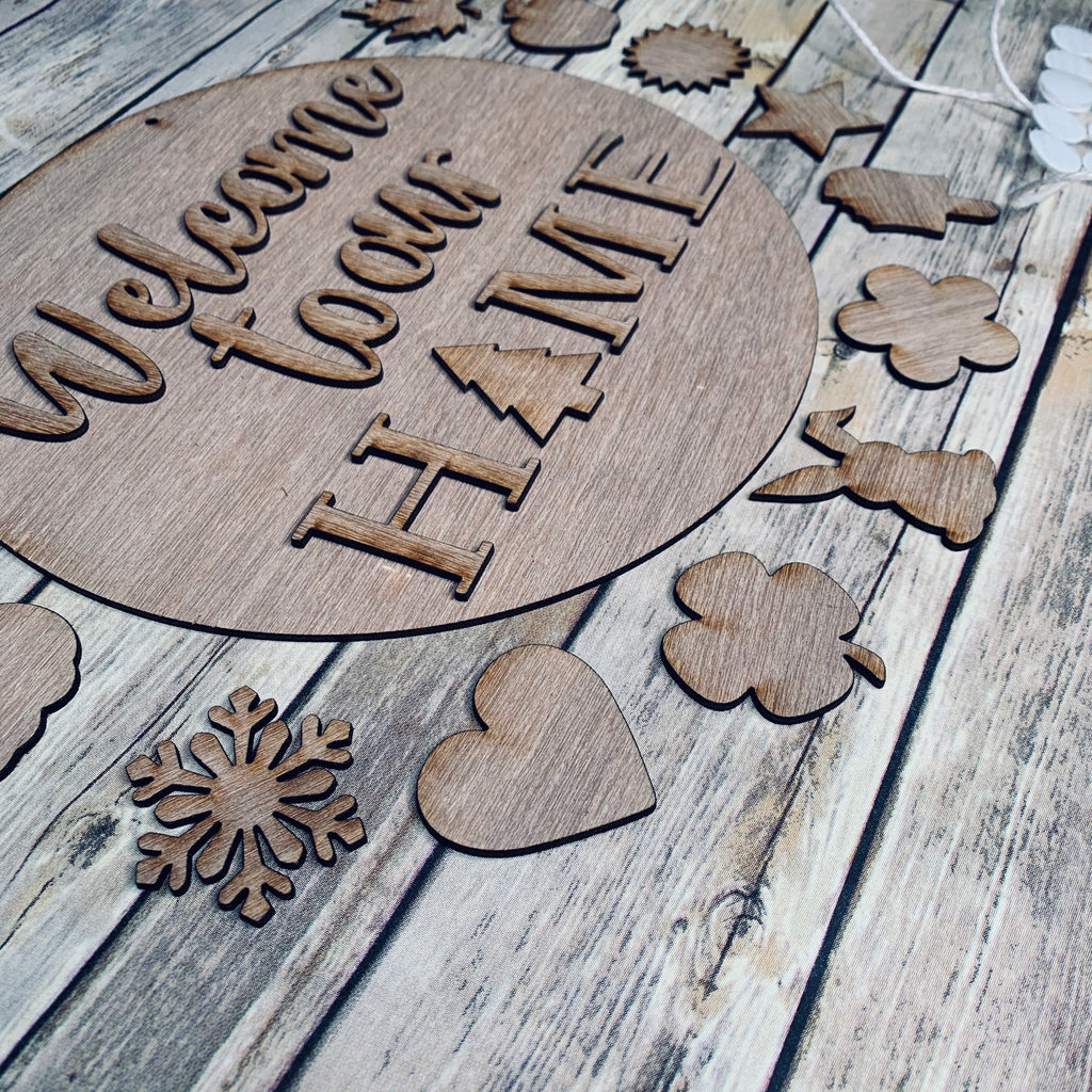 11.5in Round 3D Interchangeable Home Sign COMPLETE kit