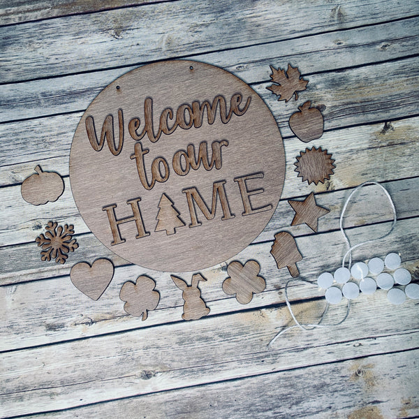 11.5in Round 3D Interchangeable Home Sign  kit