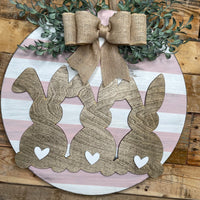18in Bunny Round Door Hanger Friday March 5th 6-10PM