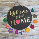 "17"" 3D Interchangeable Home Sign Cutouts"