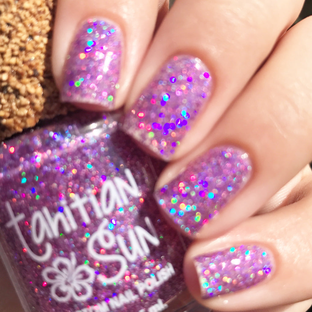 Caribbean Splash - Top Coat Glitter Polish