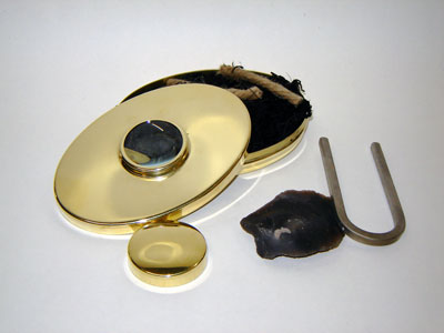 Fire Lighting Kit with Brass Hudson Bay Tobacco Box (U Striker)