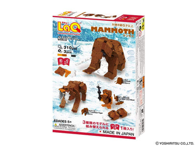 Animal World MAMMOTH - 3 Models, 310 Pieces - Back package