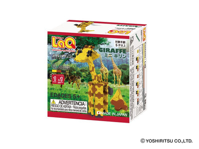 Back cover of LaQ product Animal World MINI GIRAFFE - 1 Model, 88 Pieces