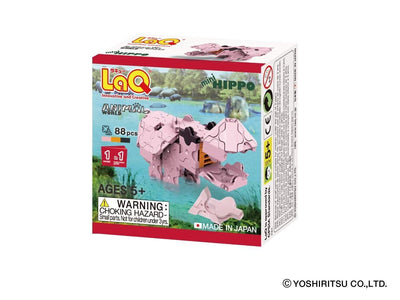 Front cover of LaQ product: Animal World MINI HIPPO - 1 Model, 88 Pieces