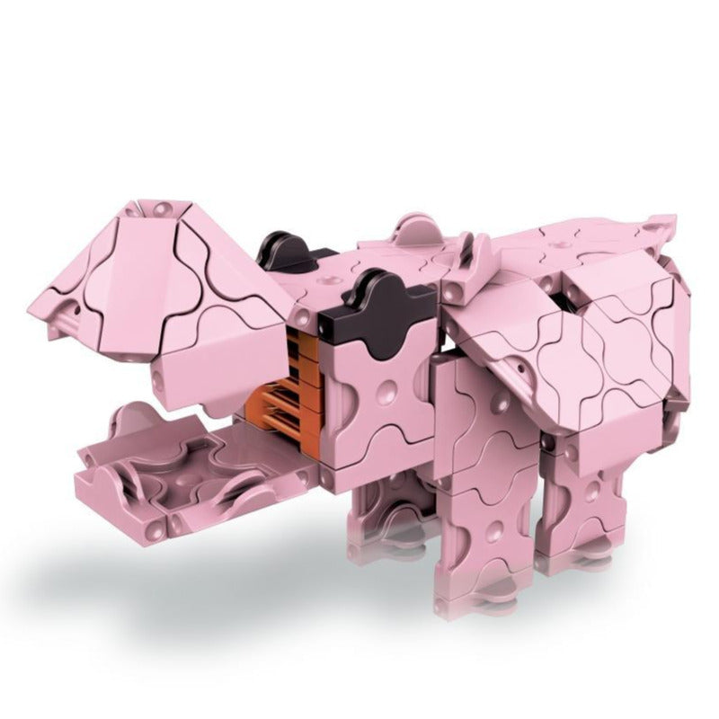 Animal World MINI HIPPO - 1 Model, 88 Pieces -  Hippo Model