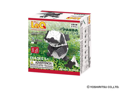 Back cover of LaQ product Animal World MINI PANDA - 1 Model, 88 Pieces