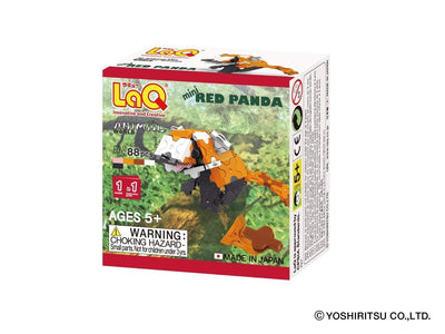 Front cover of LaQ product: Animal World MINI RED PANDA - 1 Model, 88 Pieces