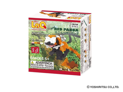 Back cover of LaQ product Animal World MINI RED PANDA - 1 Model, 88 Pieces