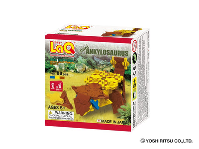 Front cover of LaQ product: Dinosaur World MINI ANKYLOSAURUS - 1 Model, 88 Pieces