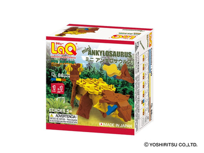 Back cover of LaQ product Dinosaur World MINI ANKYLOSAURUS - 1 Model, 88 Pieces