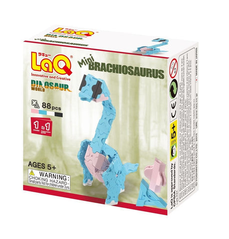 Front cover of LaQ product: Dinosaur World Mini Brachiosaurus
