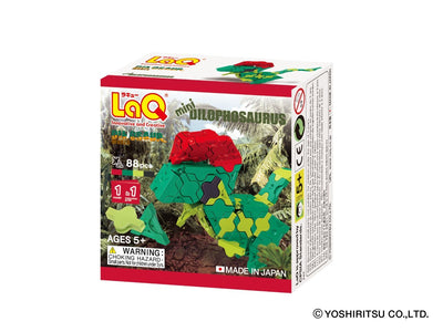 Front cover of LaQ product: Dinosaur World MINI DILOPHOSAURUS - 1 Model, 88 Pieces