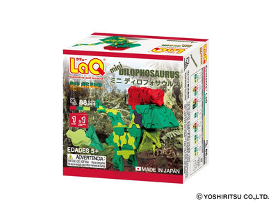 Back cover of LaQ product Dinosaur World MINI DILOPHOSAURUS - 1 Model, 88 Pieces