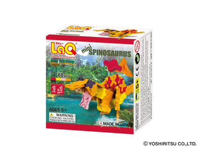 Front cover of LaQ product: Dinosaur World MINI SPINOSAURUS - 1 Model, 88 Pieces