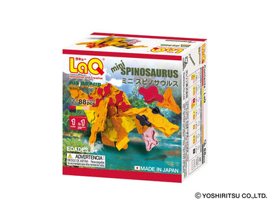 Back cover of LaQ product Dinosaur World MINI SPINOSAURUS - 1 Model, 88 Pieces