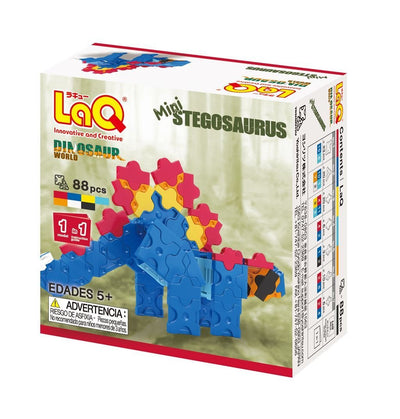 Back cover of LaQ product Dinosaur World Mini Stegosaurus
