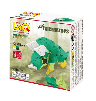 Front cover of LaQ product: Dinosaur World Mini Triceratops