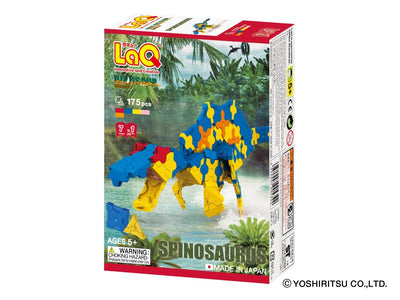 Front cover of LaQ product: Dinosaur World SPINOSAURUS - 7 Models, 175 Pieces