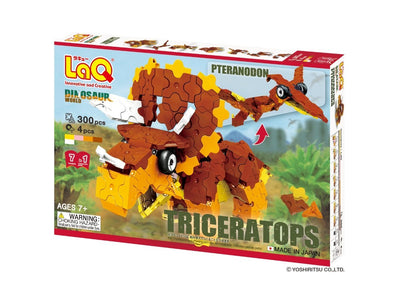 Front cover of LaQ product: Dinosaur World Triceratops & Pteranodon