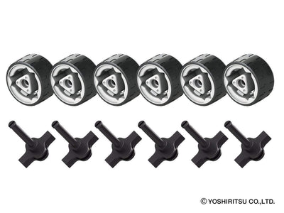 HAMACRON MIDDLE SIZE WHEEL KIT - 0 Model, 12 Pieces - 6 wheels, 6 shafts