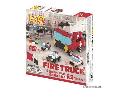 Back cover of LaQ product Hamacron Constructor Fire Truck