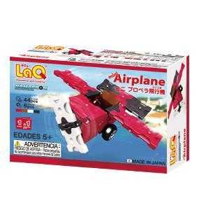 Back cover of LaQ product Hamacron Constructor Mini Airplane