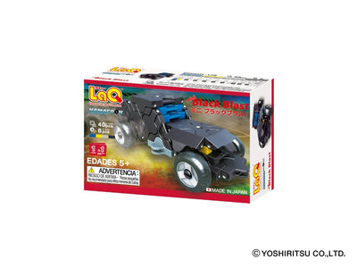 Back cover of LaQ product Hamacron Constructor MINI BLACK BLAST - 1 Model, 40 Pieces